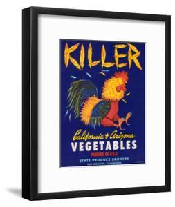 Killer Vegetable Label - Los Angeles, CA by Lantern Press