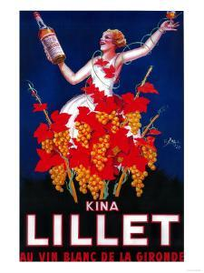 Kina Lillet Vintage Poster - Europe by Lantern Press