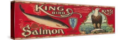King Bird Salmon Can Label - Bellingham, WA
