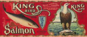 King Bird Salmon Can Label - Bellingham, WA by Lantern Press