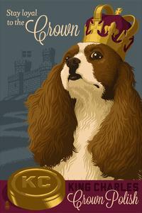 King Charles - Retro Polish Ad by Lantern Press