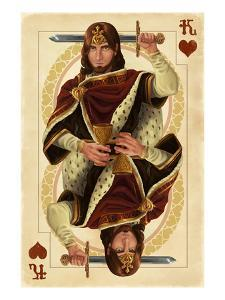 King of Hearts - Playing Card by Lantern Press