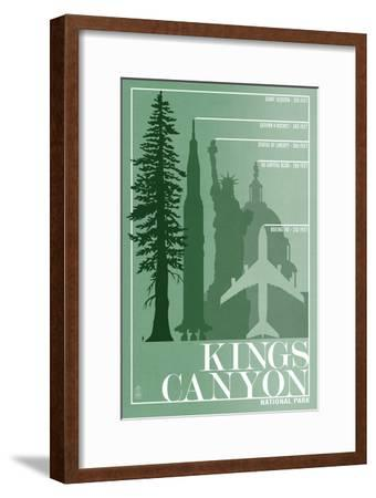 Kings Canyon National Park - Redwood Relative Sizes