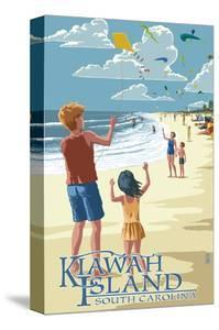 Kite Flyers - Kiawah Island, South Carolina by Lantern Press