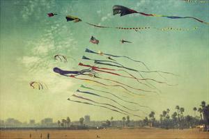 Kites and Beach by Lantern Press