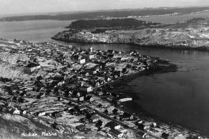 Kodiak, Alaska - Aerial View of Town by Lantern Press