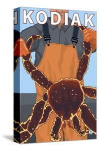 Kodiak, Alaska - Alaskan King Crab by Lantern Press