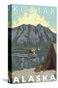 Kodiak, Alaska - Bush Plane Fishing by Lantern Press