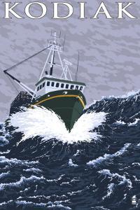 Kodiak, Alaska - Fishing Boat, c.2009 by Lantern Press