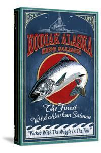 Kodiak, Alaska - King Salmon by Lantern Press
