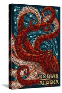 Kodiak, Alaska - Octopus Mosaic by Lantern Press