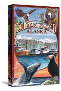 Kodiak Island, Alaska - Montage Views by Lantern Press