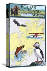 Kodiak Island, Alaska - Nautical Chart by Lantern Press