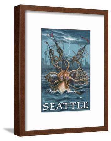 Kraken Attacking Ship - Seattle