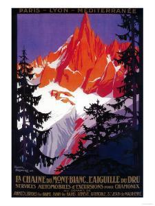 La Chaine De Mont-Blanc Vintage Poster - Europe by Lantern Press