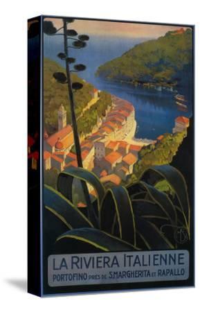 La Riviera Italienne: From Rapallo to Portofino Travel Poster - Portofino, Italy by Lantern Press