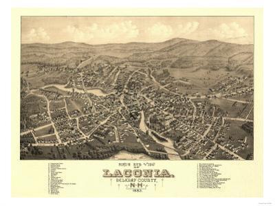 Laconia, New Hampshire - Panoramic Map