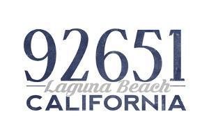 Laguna Beach, California - 92651 Zip Code (Blue) by Lantern Press