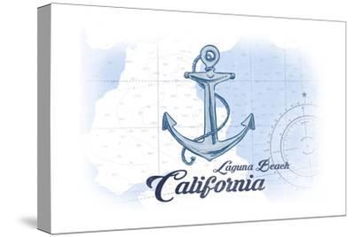 Laguna Beach, California - Anchor - Blue - Coastal Icon