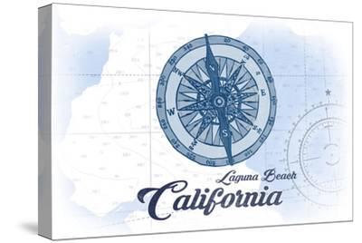 Laguna Beach, California - Compass - Blue - Coastal Icon