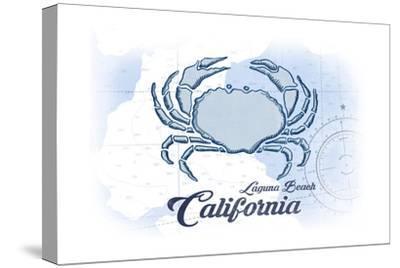 Laguna Beach, California - Crab - Blue - Coastal Icon