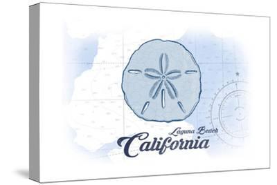 Laguna Beach, California - Sand Dollar - Blue - Coastal Icon