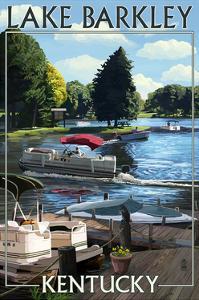 Lake Barkley, Kentucky - Pontoon Boats by Lantern Press