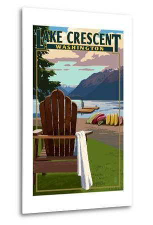 Lake Crescent and Adirondack Chairs - Washington