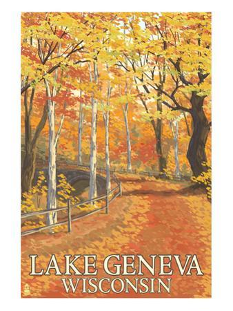 Lake Geneva, Wisconsin - Fall Colors