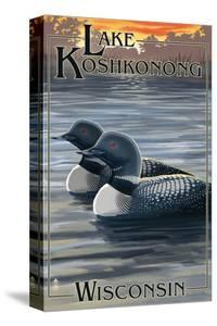 Lake Koshkonong, Wisconsin - Loons by Lantern Press