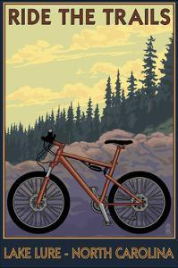 Lake Lure, North Carolina - Ride the Trails by Lantern Press