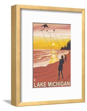 Lake Michigan - Sunset Kite Flyers