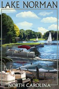 Lake Norman, North Carolina - Boating Scene by Lantern Press