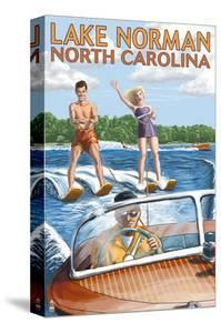 Lake Norman, North Carolina - Water Skiing by Lantern Press