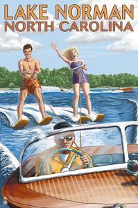 Lake Norman, North Carolina - Water Skiing by Lantern Press