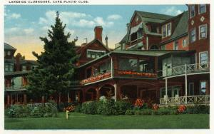 Lake Placid, New York - Exterior View of the Lakeside Clubhouse, Lake Placid Club, c.1916 by Lantern Press