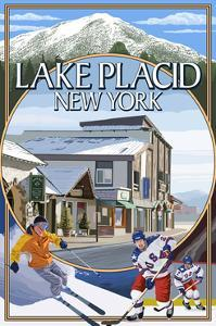 Lake Placid, New York - Montage Scenes by Lantern Press