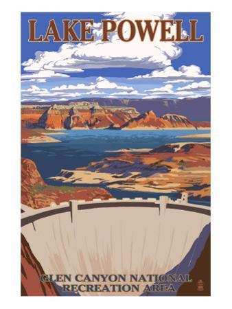 Lake Powell Dam View by Lantern Press