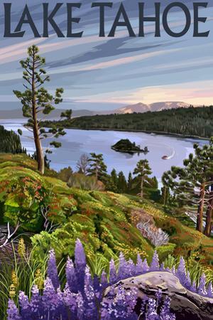 Lake Tahoe - Bay Scene by Lantern Press