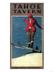Lake Tahoe, California - Tahoe Tavern Promo Poster by Lantern Press