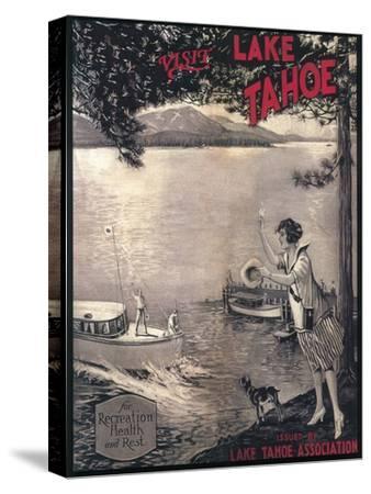 Lake Tahoe, California - Wooden Boat Poster