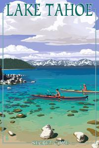 Lake Tahoe - Kayakers in Secret Cove by Lantern Press
