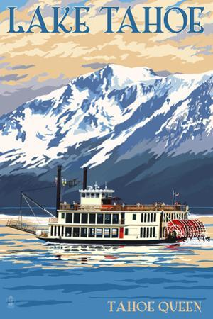 Lake Tahoe - Tahoe Queen Paddleboat by Lantern Press