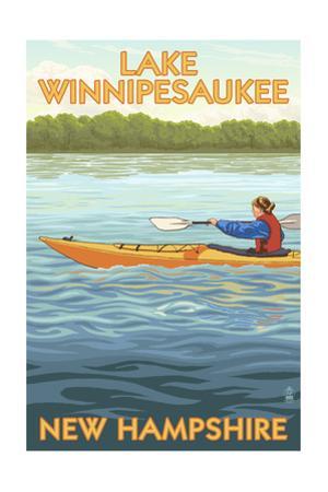 Lake Winnipesaukee, New Hampshire - Kayak Scene by Lantern Press