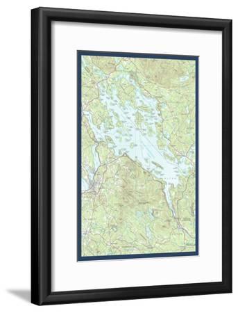 Lake Winnipesaukee, New Hampshire - Map Only