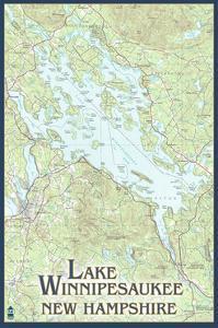 Lake Winnipesaukee, New Hampshire - No Icons by Lantern Press