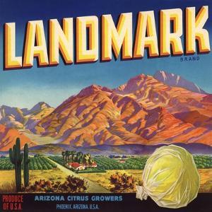 Landmark Brand - Phoenix, Arizona - Citrus Crate Label by Lantern Press