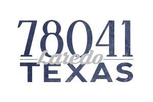 Laredo, Texas - 78041 Zip Code (Blue) by Lantern Press