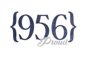 Laredo, Texas - 956 Area Code (Blue) by Lantern Press