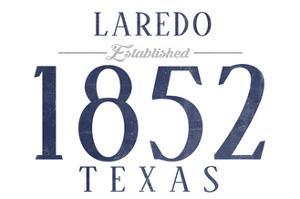 Laredo, Texas - Established Date (Blue) by Lantern Press